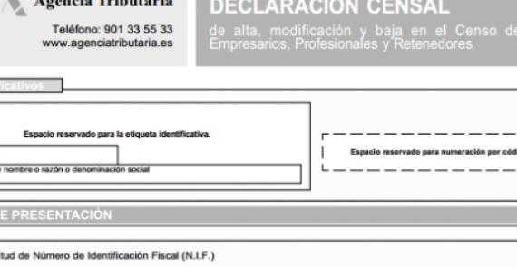 En el momento de comunicar a Hacienda el inicio de la actividad económica a través del modelo censal 036